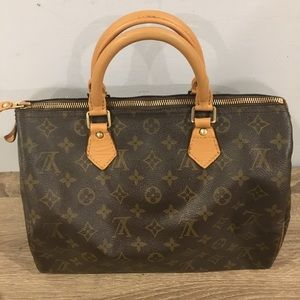Authemtic Louis Vuitton speedy 30 monogram